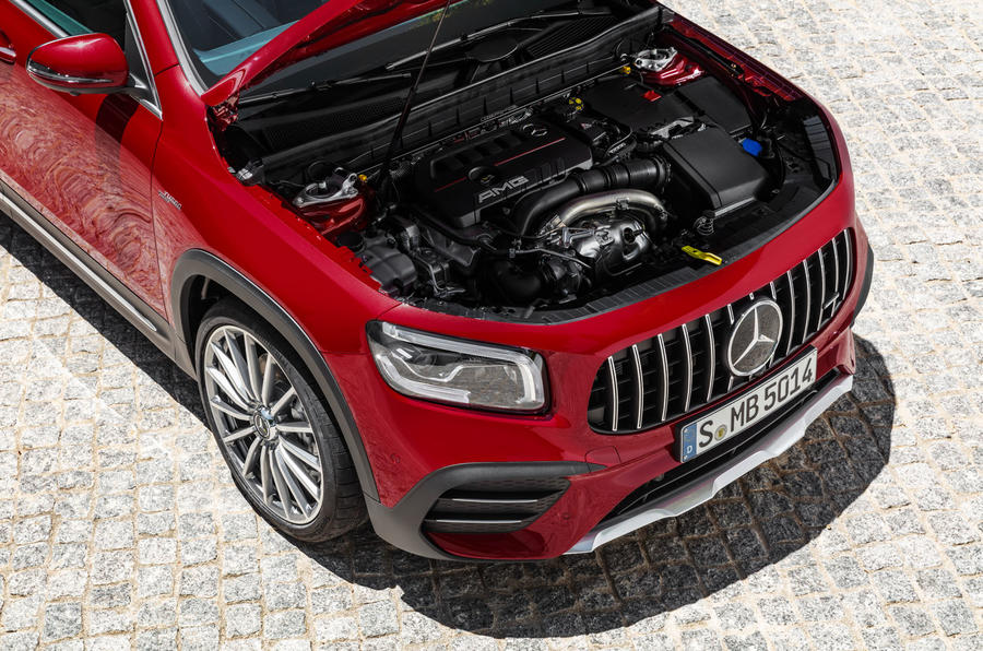 Mercedes-AMG GLB 35 2019 official press images - engine