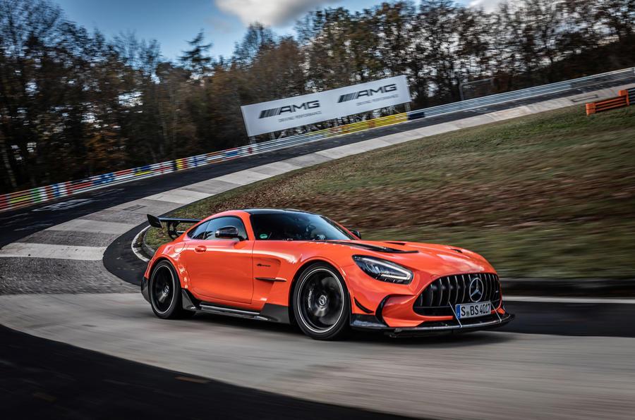 Mercedes-AMG GT Black Series Nurburgring record - cornering