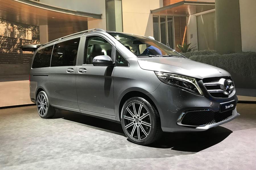 Mercedes-Benz V-Class 2019 reveal - silver