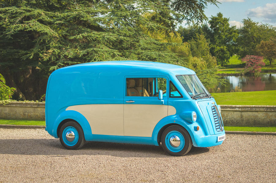 Morris JE electric van official images - static right