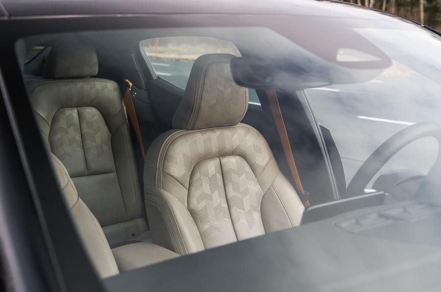 2020 Polestar 2 prototype drive - front seats