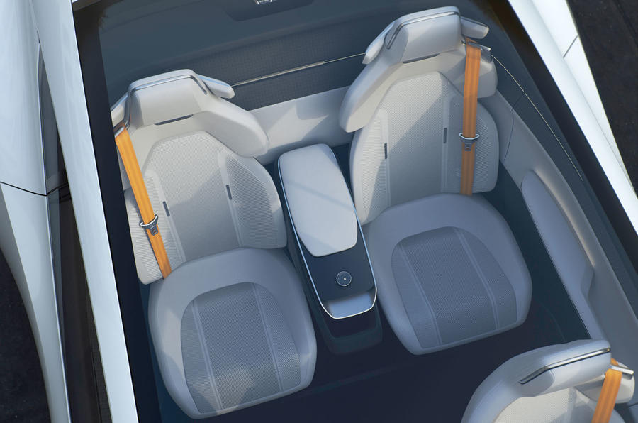 Polestar Precept concept official images - rear seats