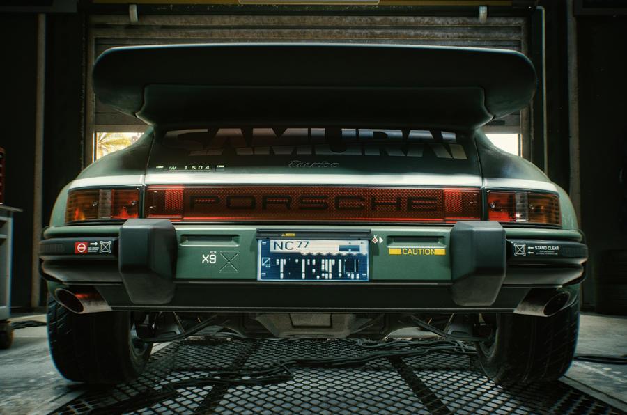 Porsche 911 Cyberpunk 2077 tie-in - rear end