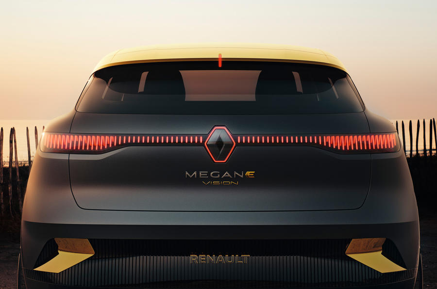 Renault Megane eVision concept official images - rear lights