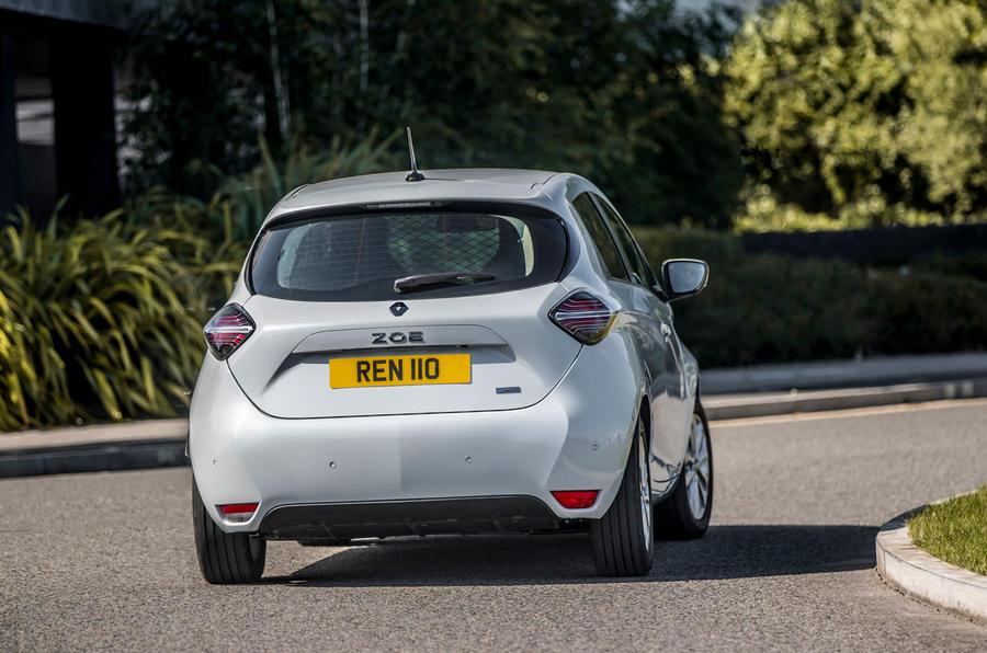 Renault Zoe van 2020 official images - cornering rear
