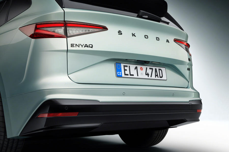 Skoda Enyaq official reveal images - studio rear end