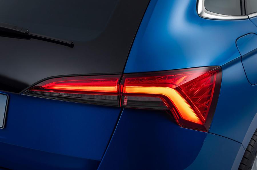 Skoda Scala 2019 official reveal - studio rear lights