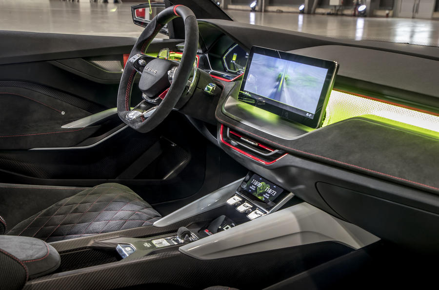 Skoda Vision RS concept drive - dashboard