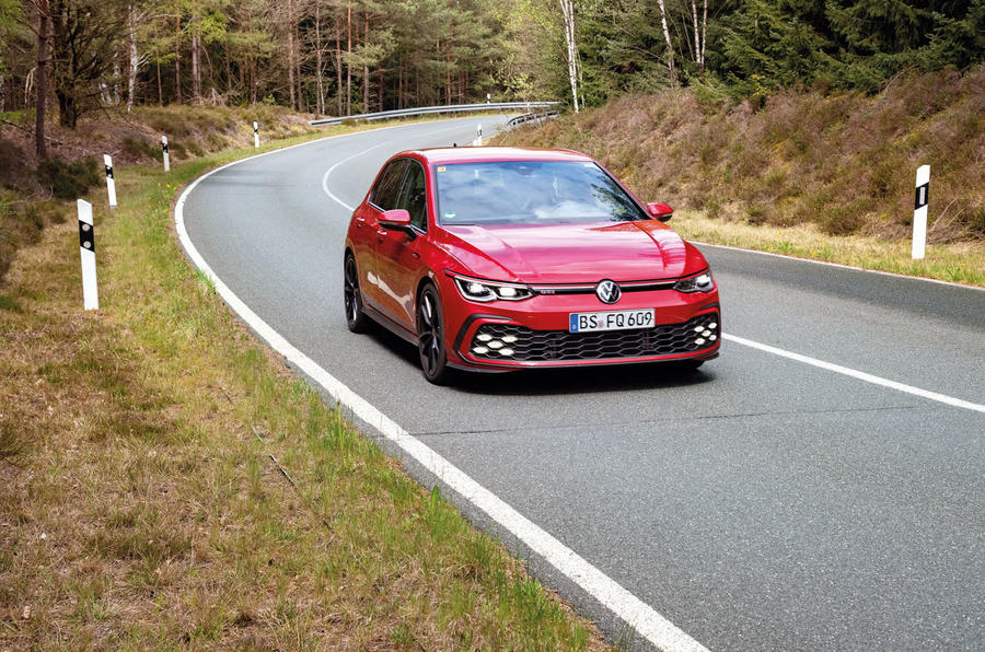 2020 Volkswagen Golf GTI first ride - on the road front