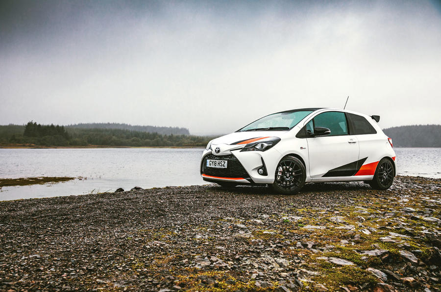 2019 Wales Rally GB preview in a Yaris GRMN - static water