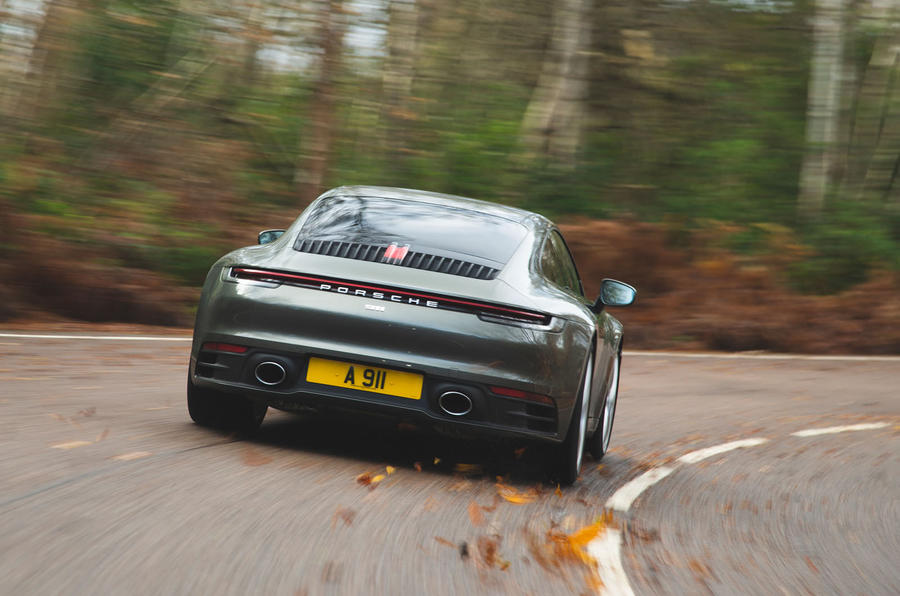 Porsche 911 Carrera 2019 UK first drive review - hero rear