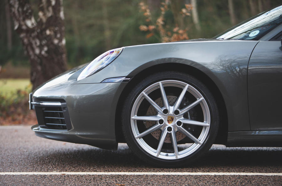 Porsche 911 Carrera 2019 UK first drive review - alloy wheels