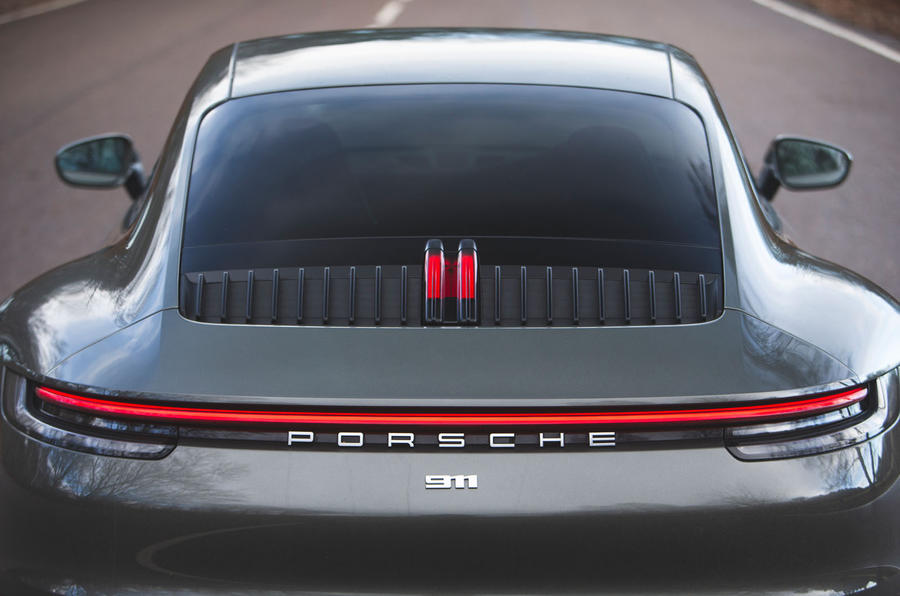 Porsche 911 Carrera 2019 UK first drive review - rear light bar