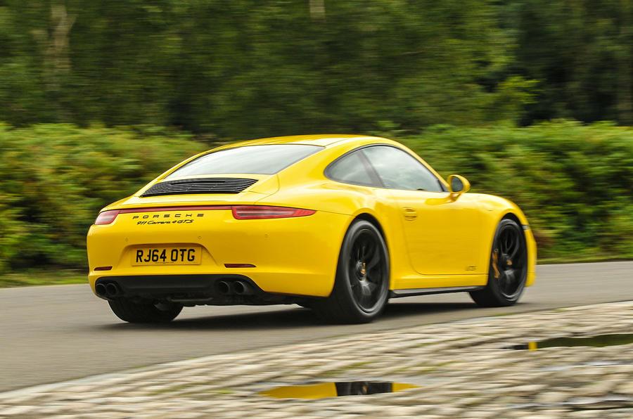 Porsche 911 C4 GTS rear cornering