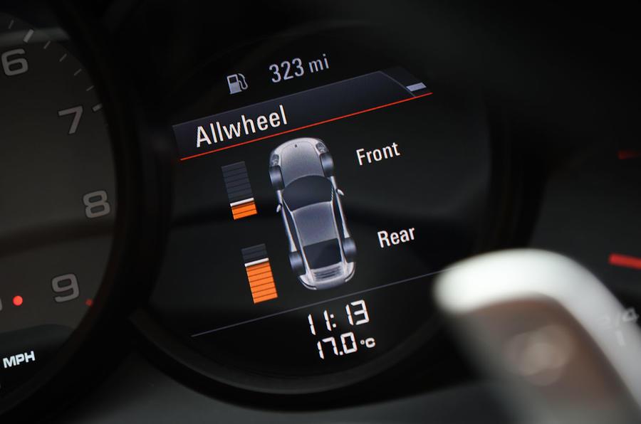 Porsche 911 AWD monitor