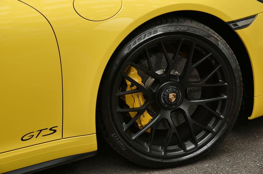 20in Porsche 911 black alloys