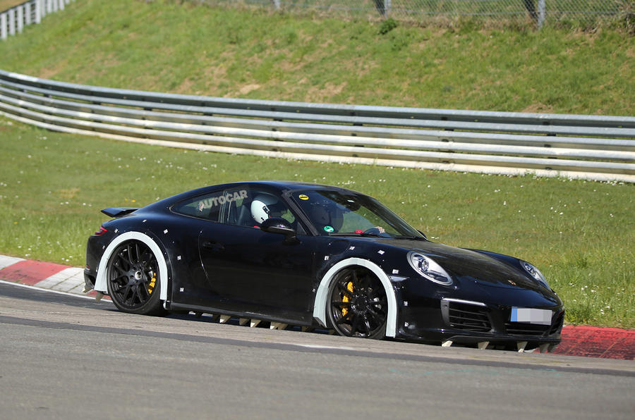 next porsche 911 spotted testing at nrburgring