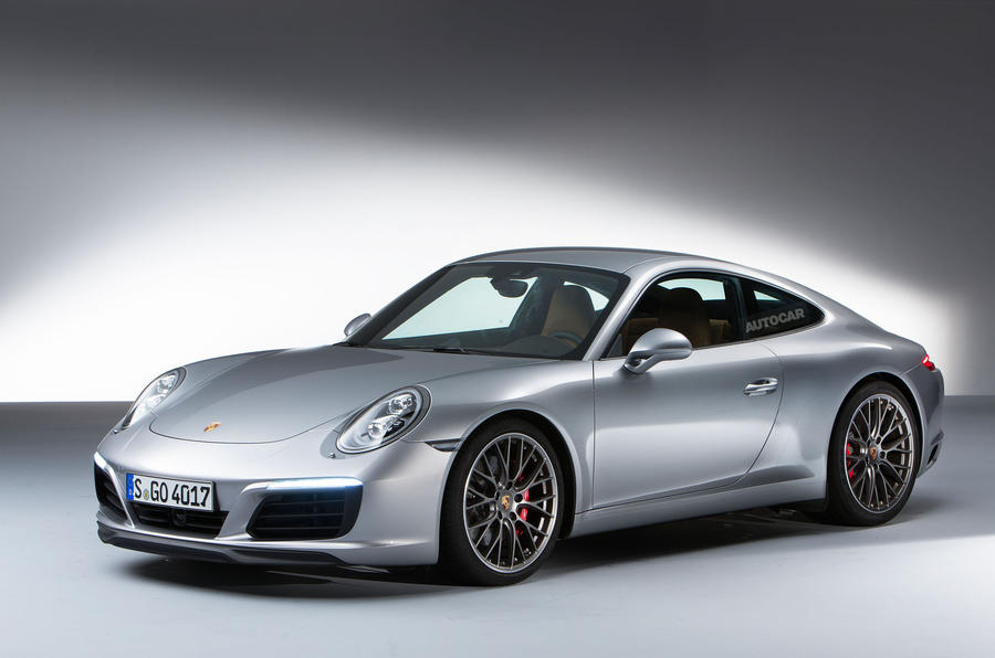 Revised porsche 911 carrera models which will go on sale in december