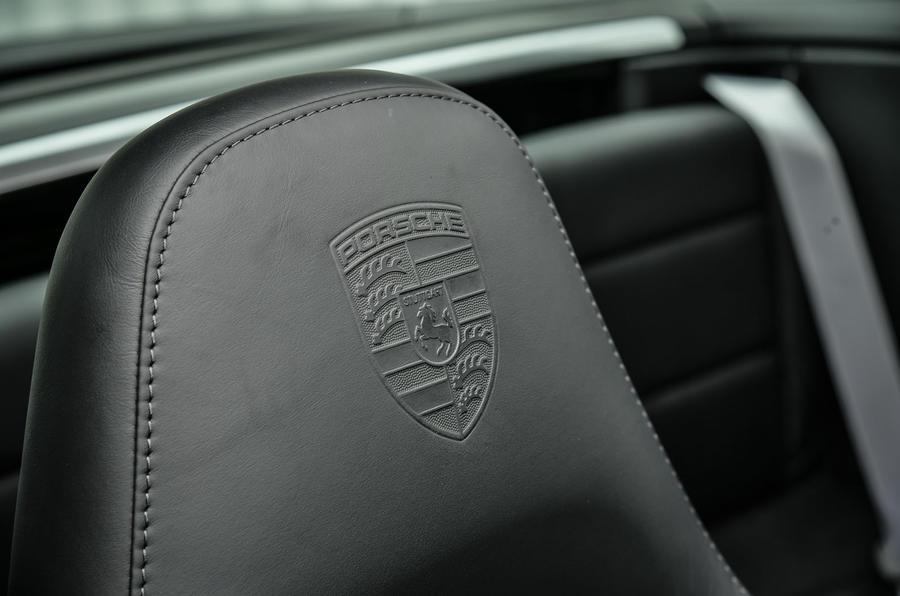 Porsche badge stitching