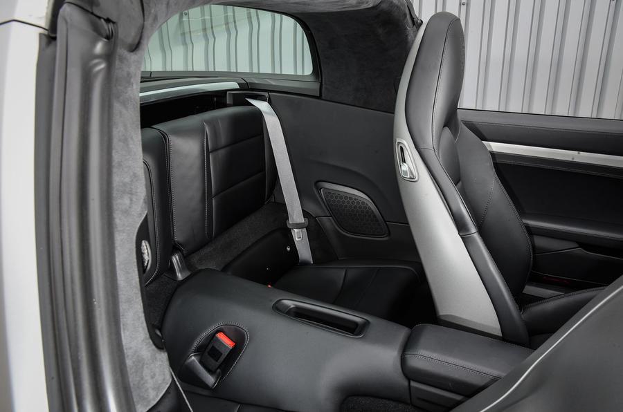Porsche 911 Targa 4S rear seats