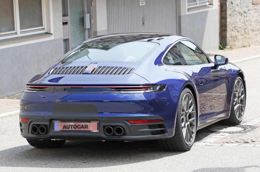 Car And Driver >> 2019 Porsche 911 '992' will be turbo-only with hybrid variants | Autocar
