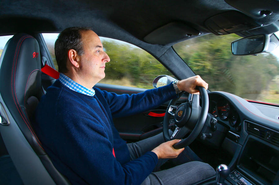 Andrew Frankel driving the Porsche 911 Carrera T