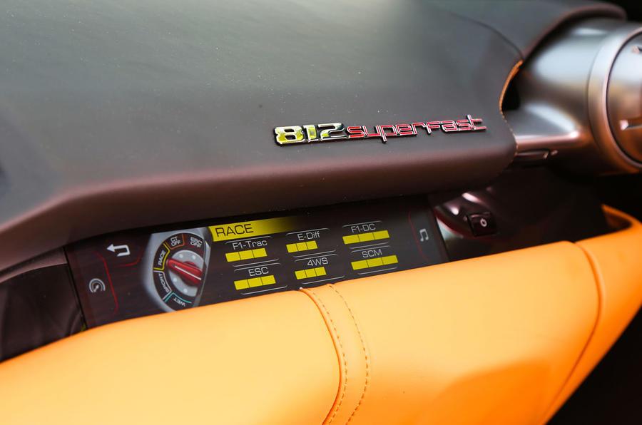 Ferrari 812 Superfast interior badging