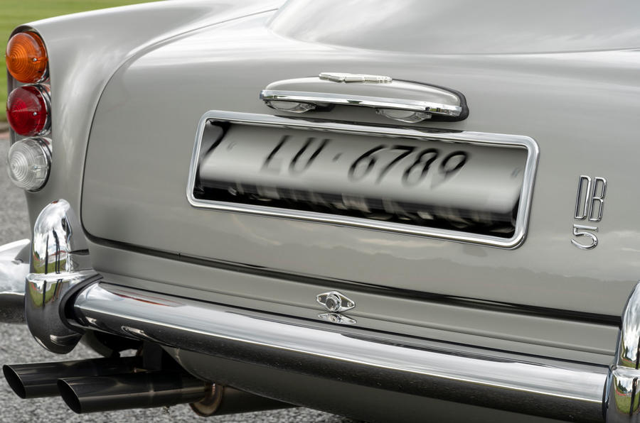 Aston Martin DB5 Goldfinger Continuation rear number plates