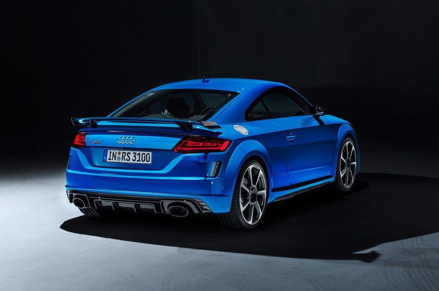 Audi TT RS 2019 facelift - official press images - studio rear