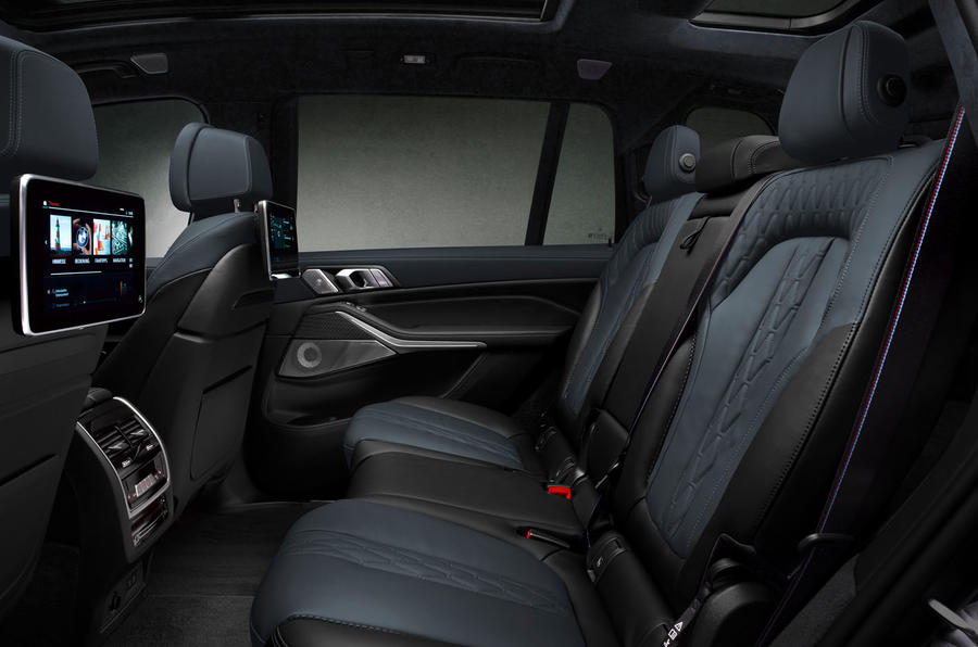 BMW X7 Dark Shadow Edition 2020 official images - rear seats