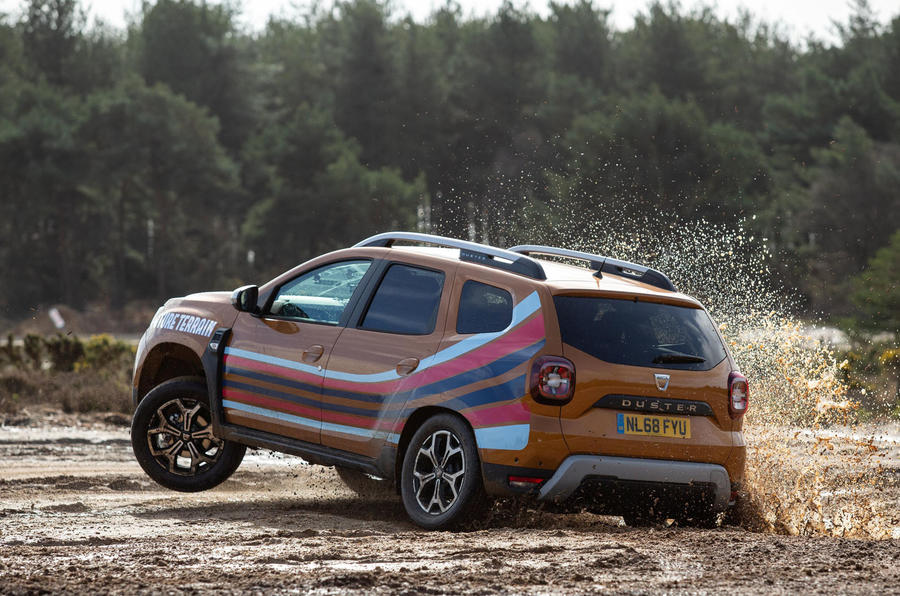 Dacia x Future Terrain - wheel in air
