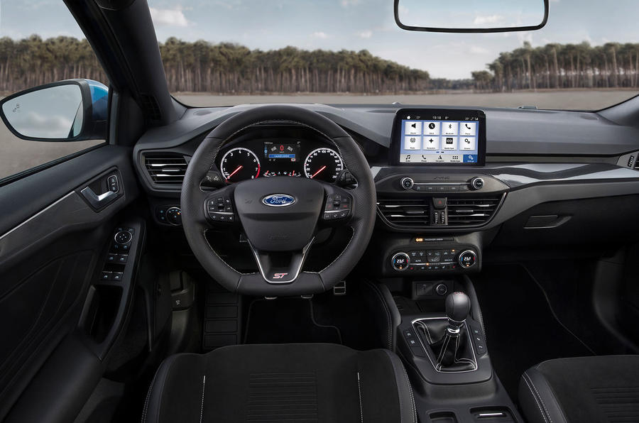 Ford Focus ST 2019 first ride - dashboard