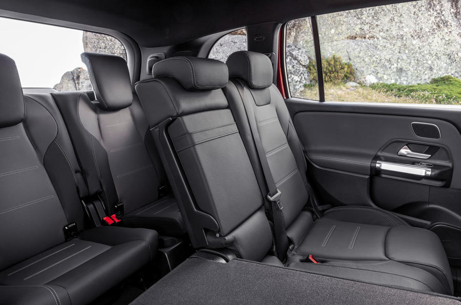 Mercedes-AMG GLB 35 2019 official press images - rear seats