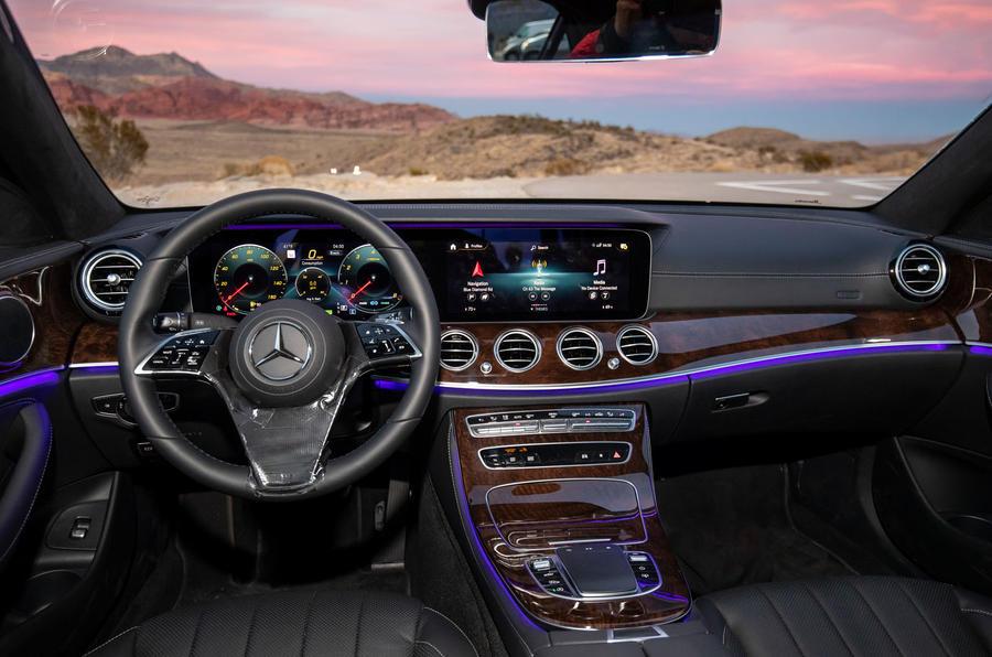 Mercedes-Benz E-Class 2020 prototype ride - dashboard