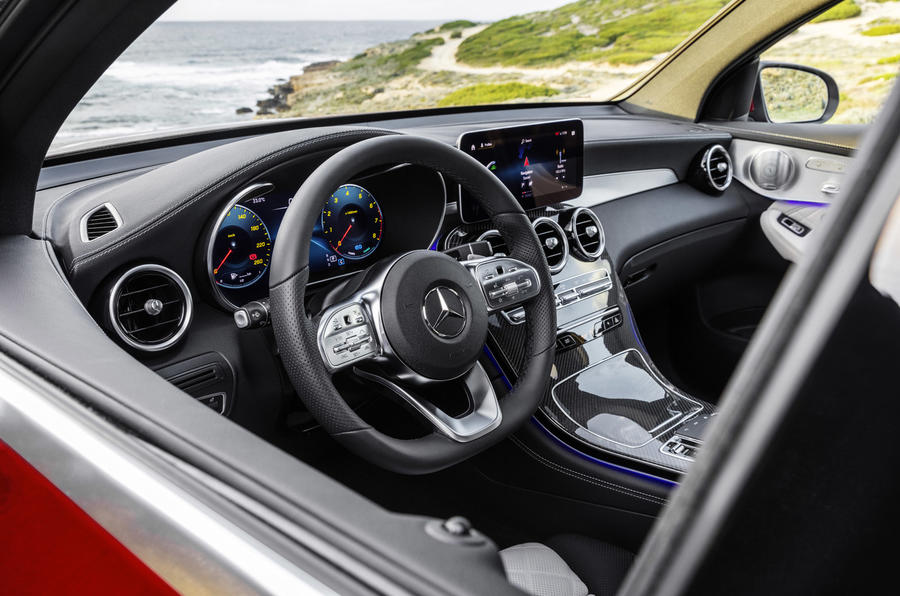 Mercedes GLC Coupe 2019 press - steering wheel
