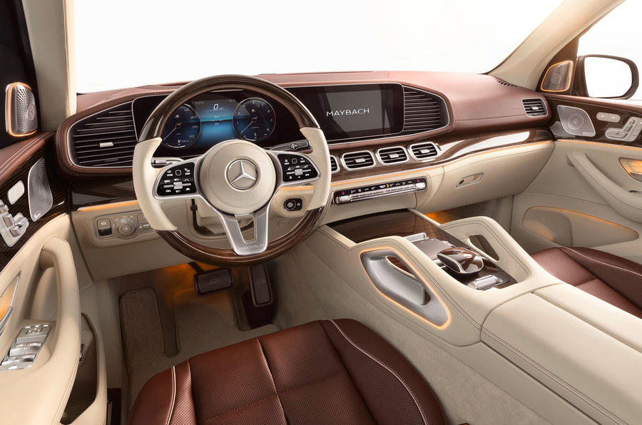 Mercedes-Maybach GLS 600 official press images - dashboard