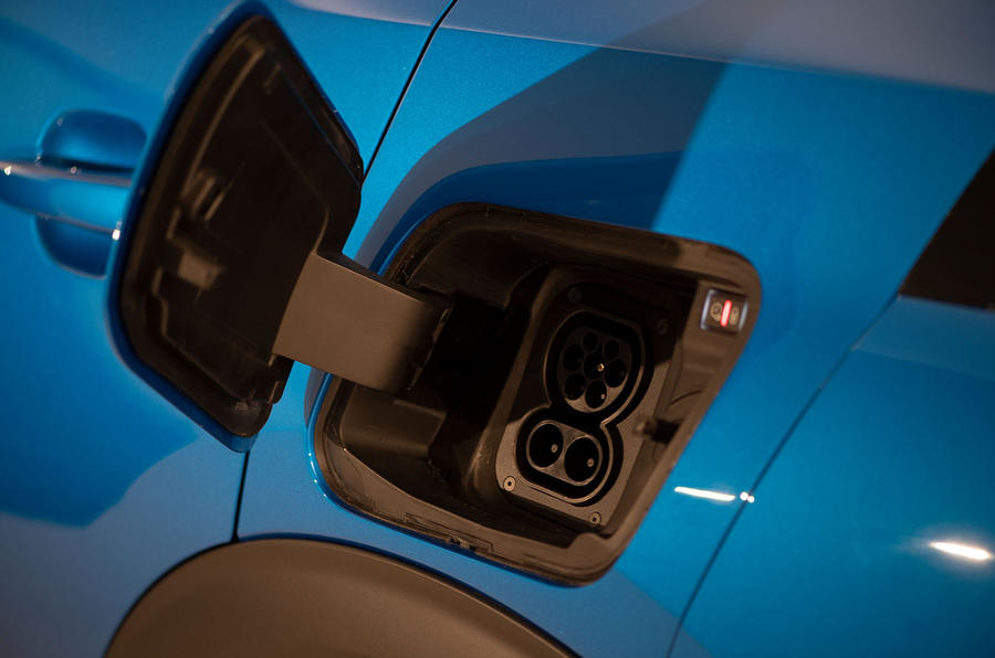 Peugeot e-2008 reveal studio - charging socket