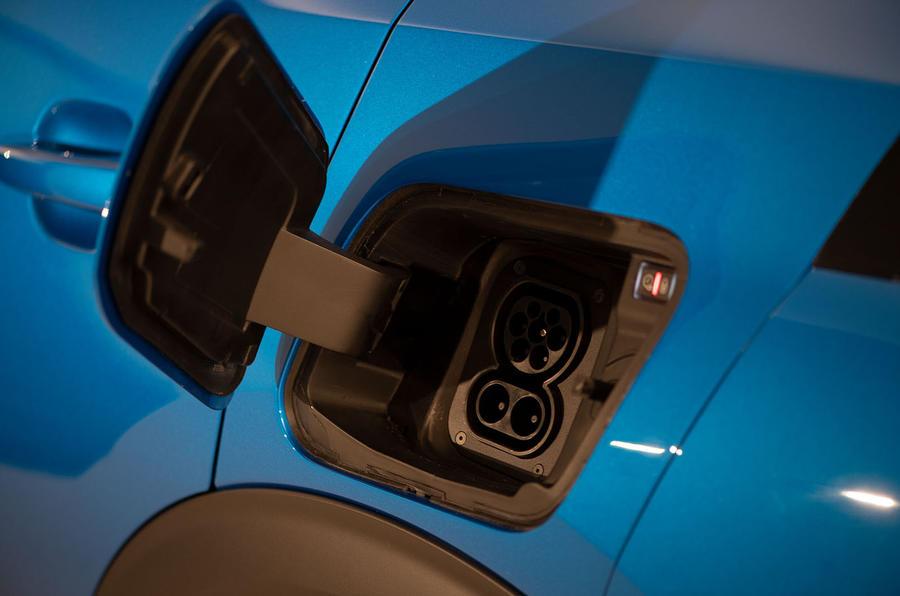 Peugeot e-2008 reveal studio - charging socket