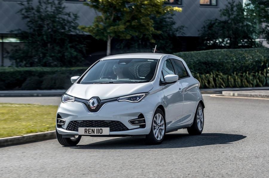 Renault Zoe van 2020 official images - cornering front