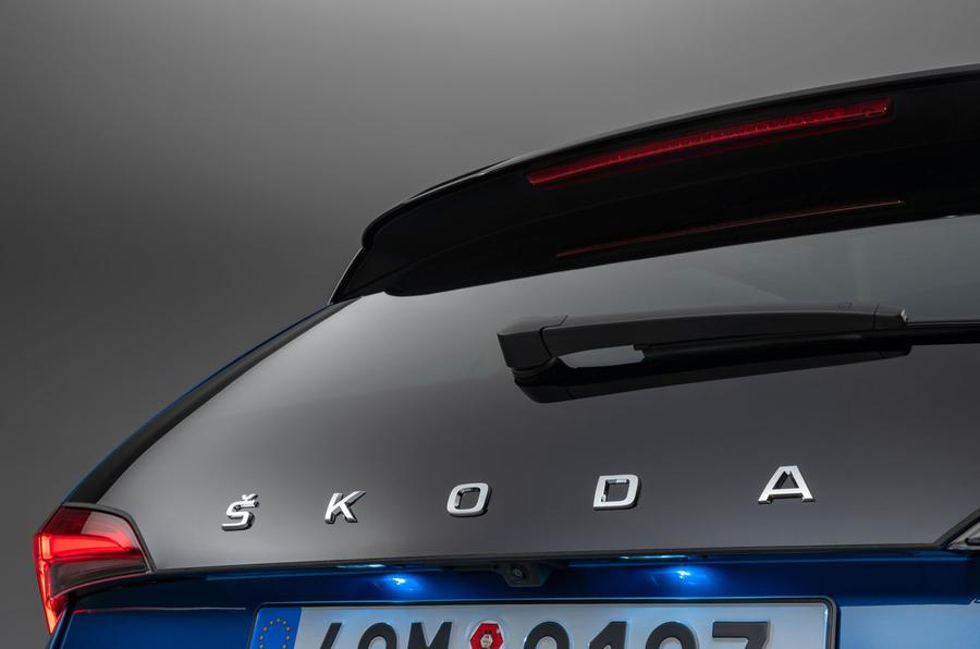 Skoda Scala 2019 official reveal - studio tailgate