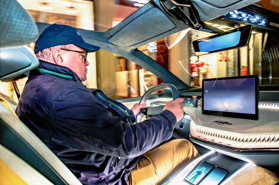 Skoda Vision iV prototype drive - driving