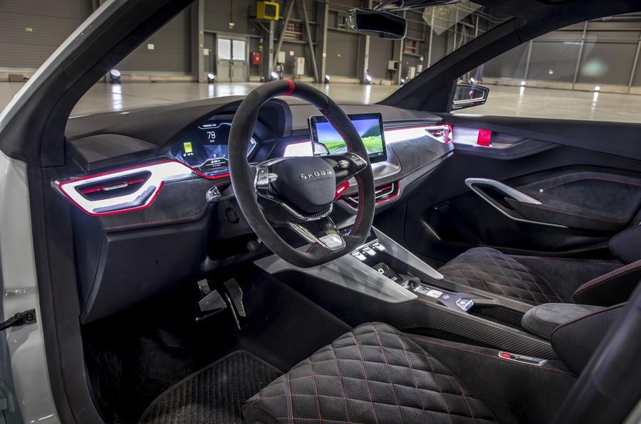 Skoda Vision RS concept drive - cabin