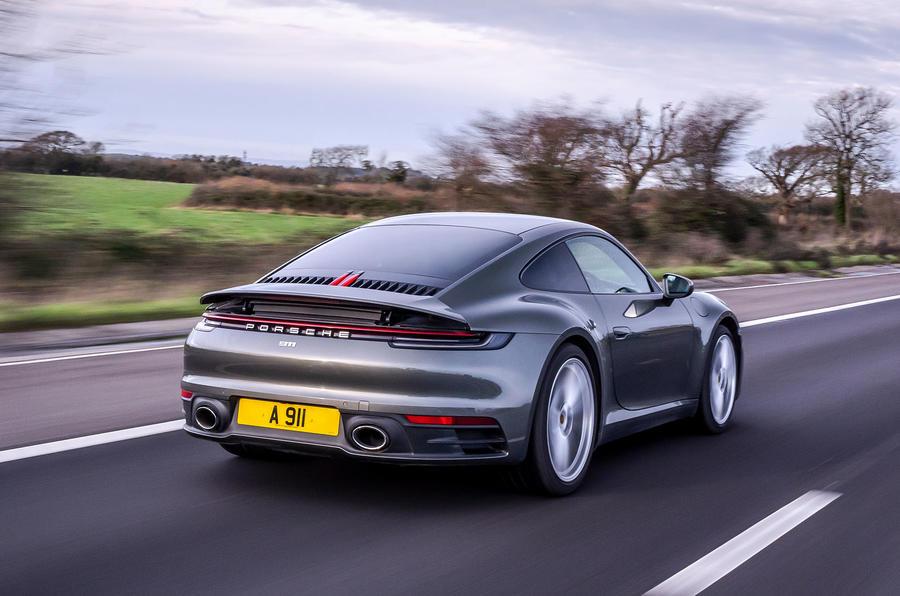 Top 50 cars 2020 - final five - Porsche 911 992 rear