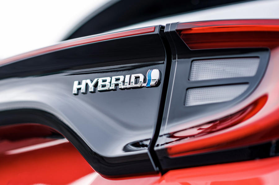 2020 Toyota Yaris prototype drive - hybrid badge