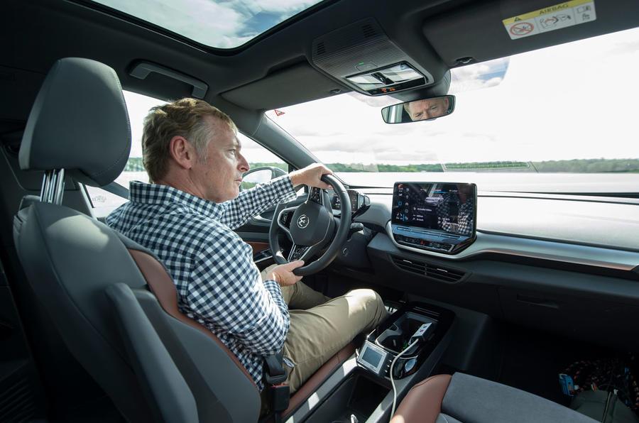 2021 Volkswagen ID 4 prototype drive - Greg Kable driving