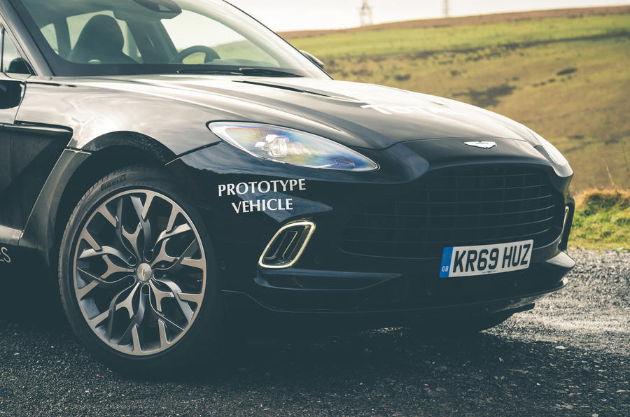 Aston Martin DBX 2020 prototype drive - front end
