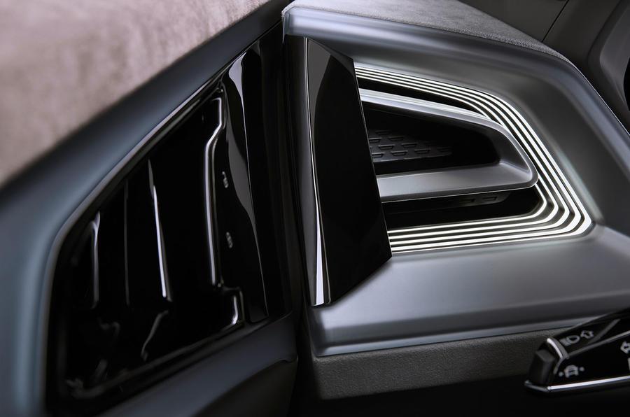Audi Q4 E-tron electric SUV Geneva 2019 official press images - digital mirrors