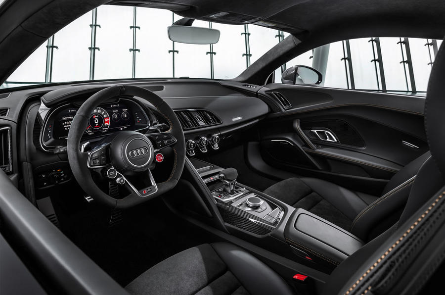 Audi R8 V10 Decennium official press images - cabin