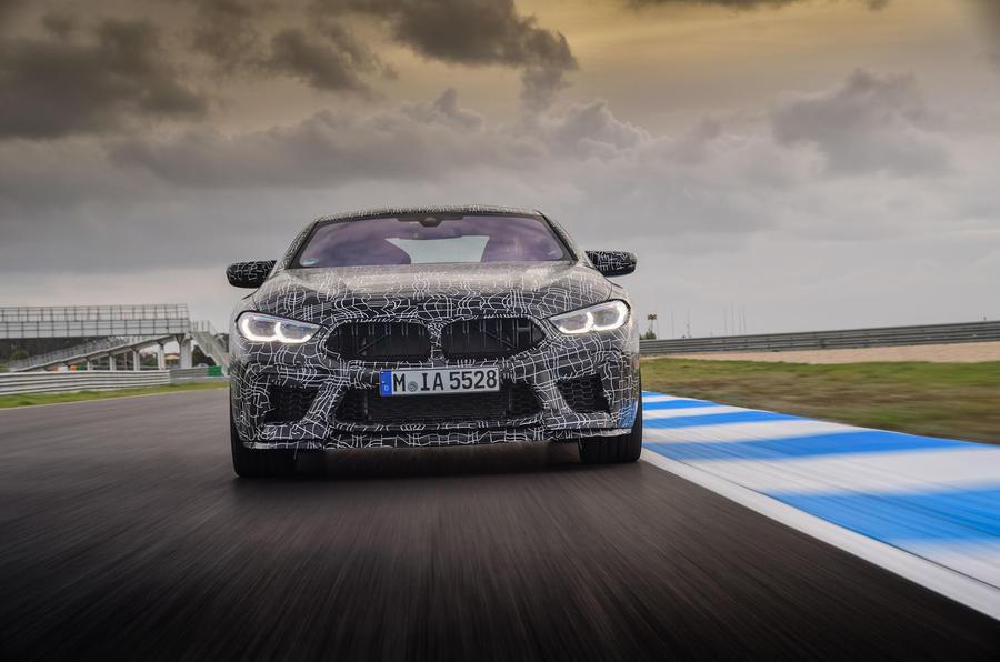 2019 BMW M8 prototype ride - track nose