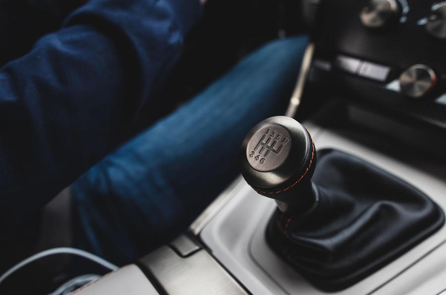 Callum Aston Martin Vanquish 25 first drive review - gearstick